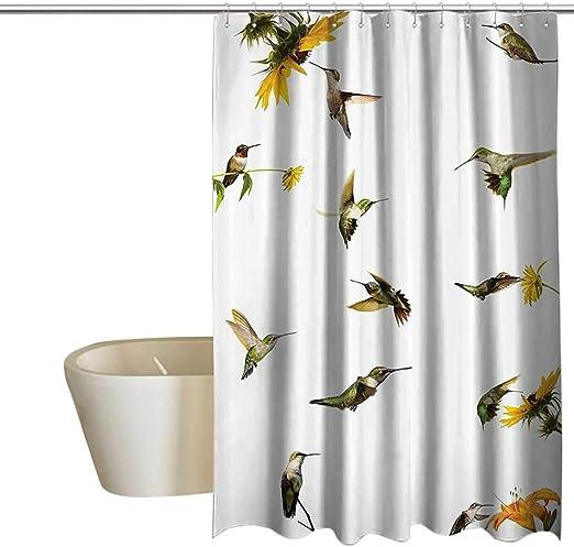 Colibríes Decoraciones Collection cortina de ducha con ganchos ...