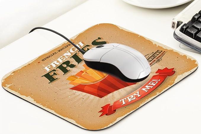 Alfombrilla de ratón Retro Papas a la francesa Mousepad: Amazon.es: Electrónica