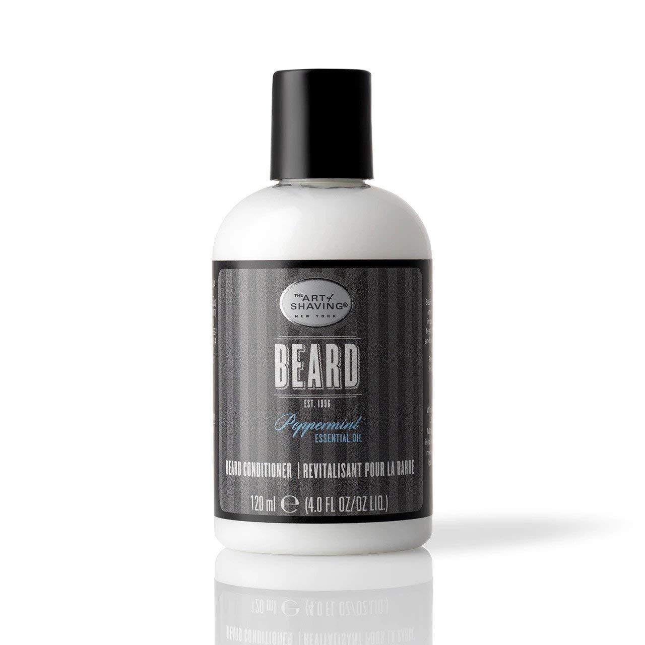 The Art of Shaving Beard Conditioner - Beard Softener to Nourish & Soften Beard Hair, Leaves Clean & Shiny Finish, Peppermint, 4 Ounce