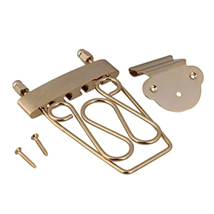 Amazon com: Gold Deluxe 4 String Bass Trapeze Tailpiece