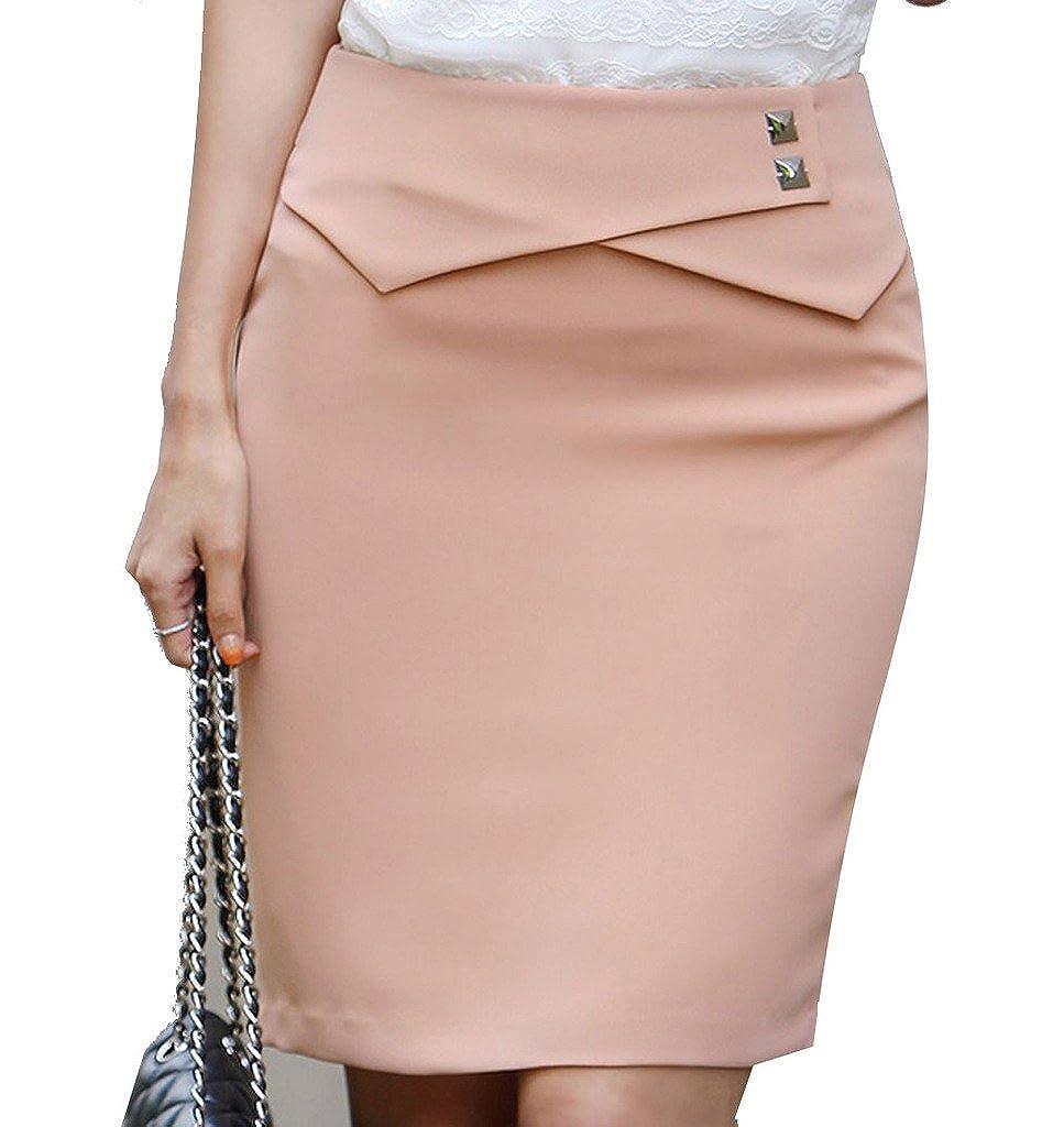 4483ce5b0705 YangguTown YGT Women's A Line Mini Skirt Office Wear Above Knee Pencil Skirt  at Amazon Women's Clothing store: