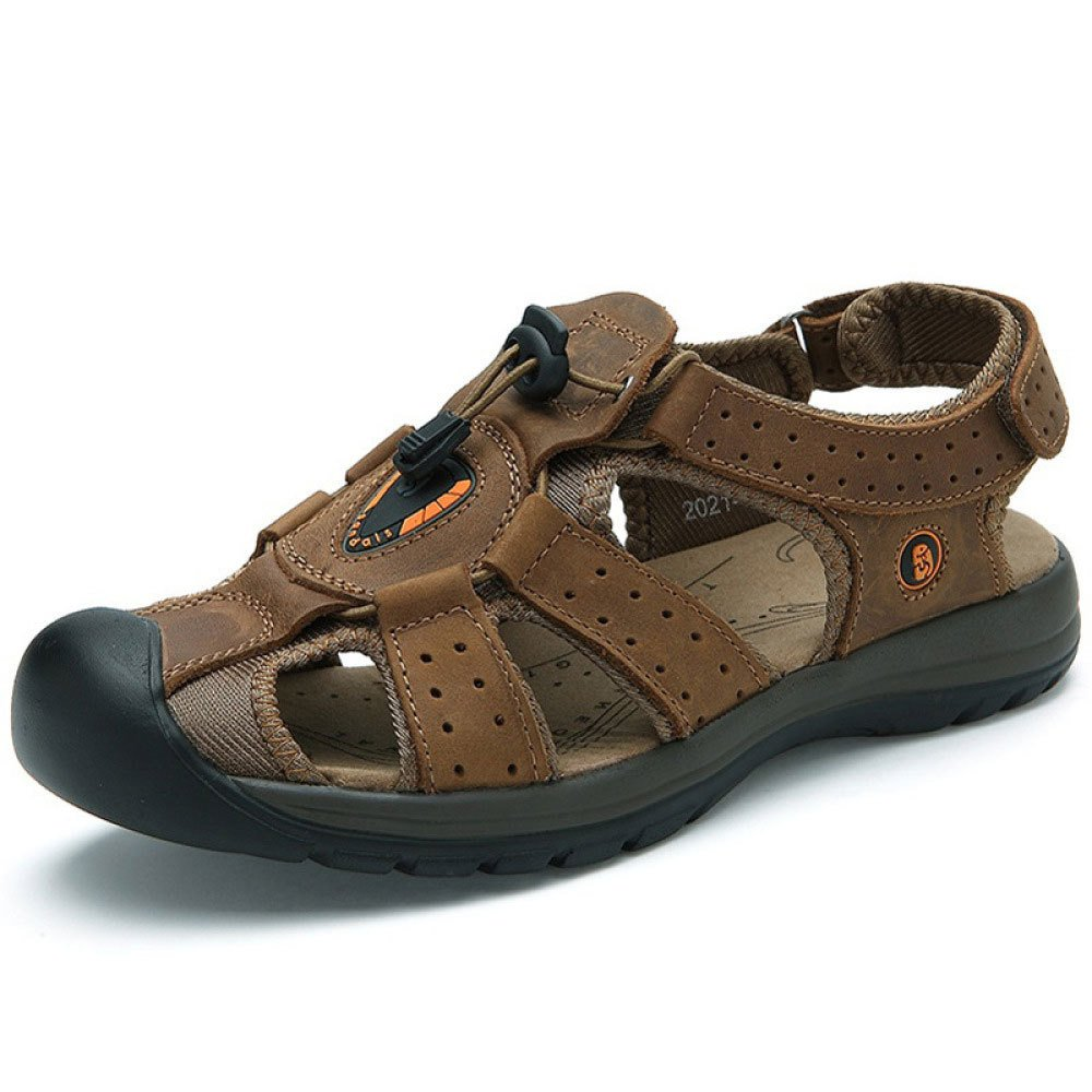 Sandalias Baotou De Verano Hombres Zapatos De Playa De Cuero De Moda Zapatos Deportivos Al Aire Libre 39 EU Brown