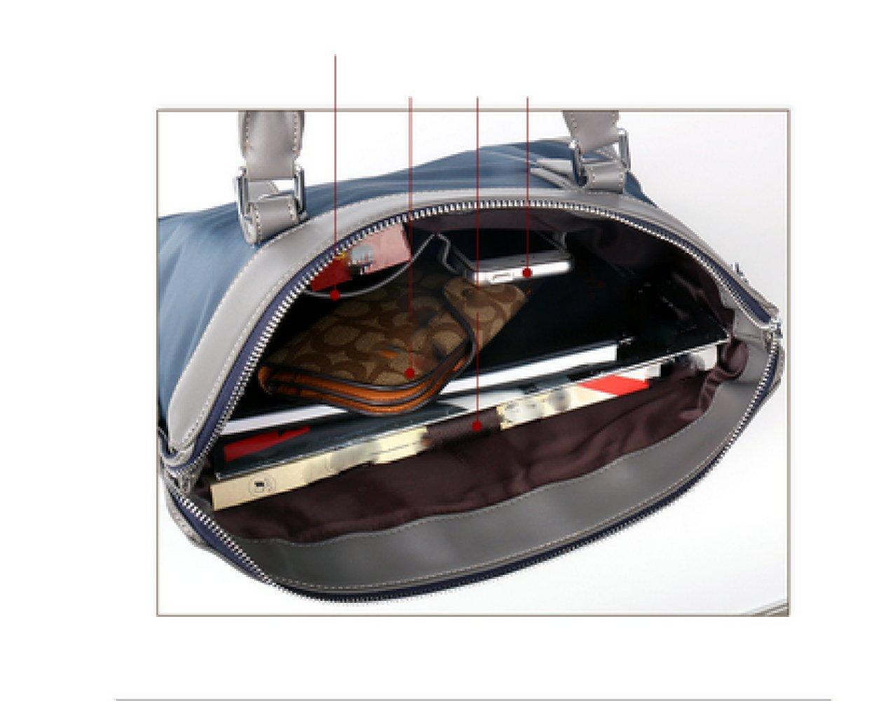 British Style Casual Men's Bag Waterproof Oxford Cloth Handbag Briefcase Shoulder Messenger Bag,Black-L by NUGJHJT (Image #5)