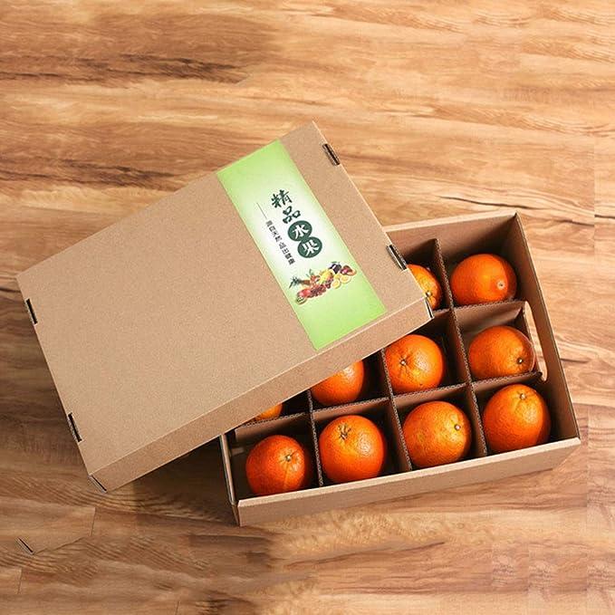 KKCF-HE Cajas De Cartón con Tapa 3 Capas Corrugadas Paquete Plano Caja De Frutas Y Verduras con Rejilla De Tarjeta 400x300x130mm 20 por Paquete: Amazon.es: ...
