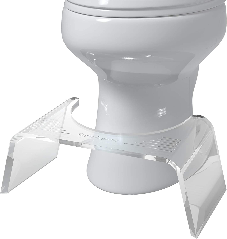"Squatty Potty Ghost Acrylic Toilet Stool, 7"""