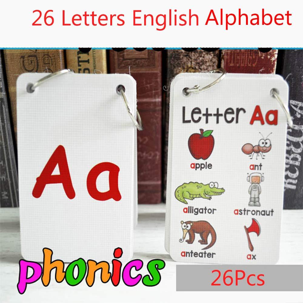 FieldDream 26PCS/Set ABC English Alphabet 26 Letters Child Flash Cards Baby Learning Toys Kids Gift Pre-Kindergarten