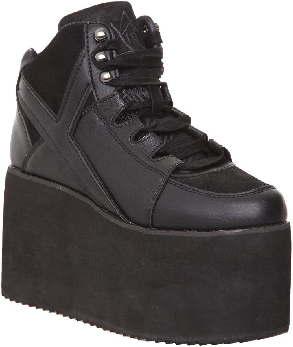 YRU Qozmo Hi-Black Platform Sneakers