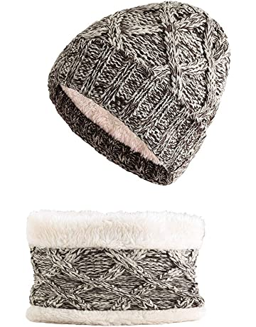 schwarz jileSM Winter Warm Knit H/örner Cute Cat Ohr Hat Beanie Cap