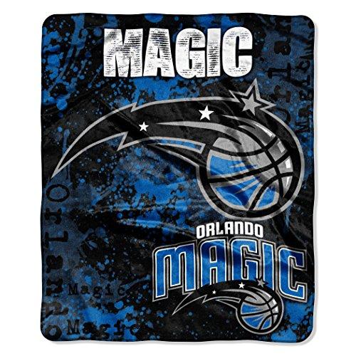 "The Northwest Company Officially Licensed NBA Orlando Magic Dropdown Plush Raschel Throw Blanket, 50"" x 60"""