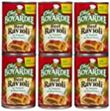 Chef Boyardee Beef Ravioli 6 pack