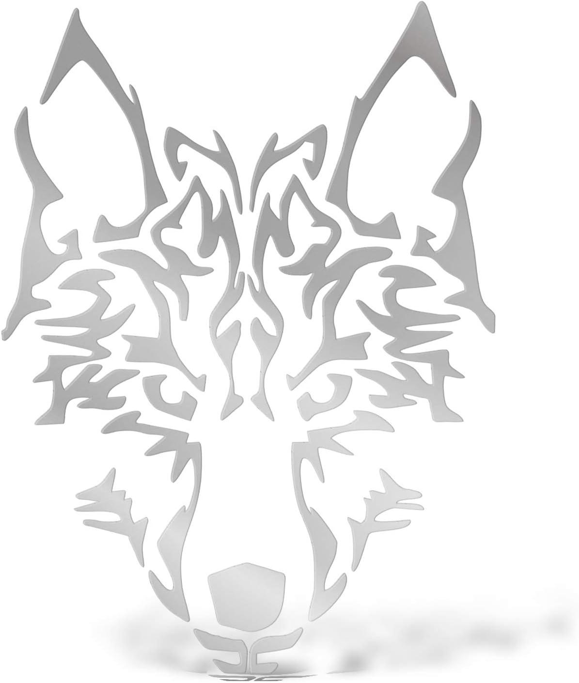 Erreinge Aufkleber Wolf Silber Schriftzug In Pvc Wandwand Aufkleber Für Helm Auto Moto Camper Laptop 12 Cm Baumarkt