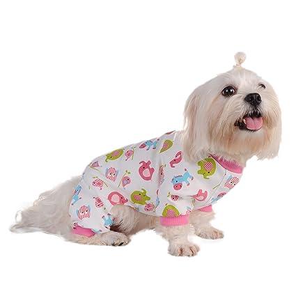 Awhao Pijamas de perros Ropa para mascotas Ropa de primavera verano para mascotas Ropa en casa
