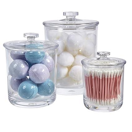 STORi Premium Quality Clear Plastic Apothecary Jars