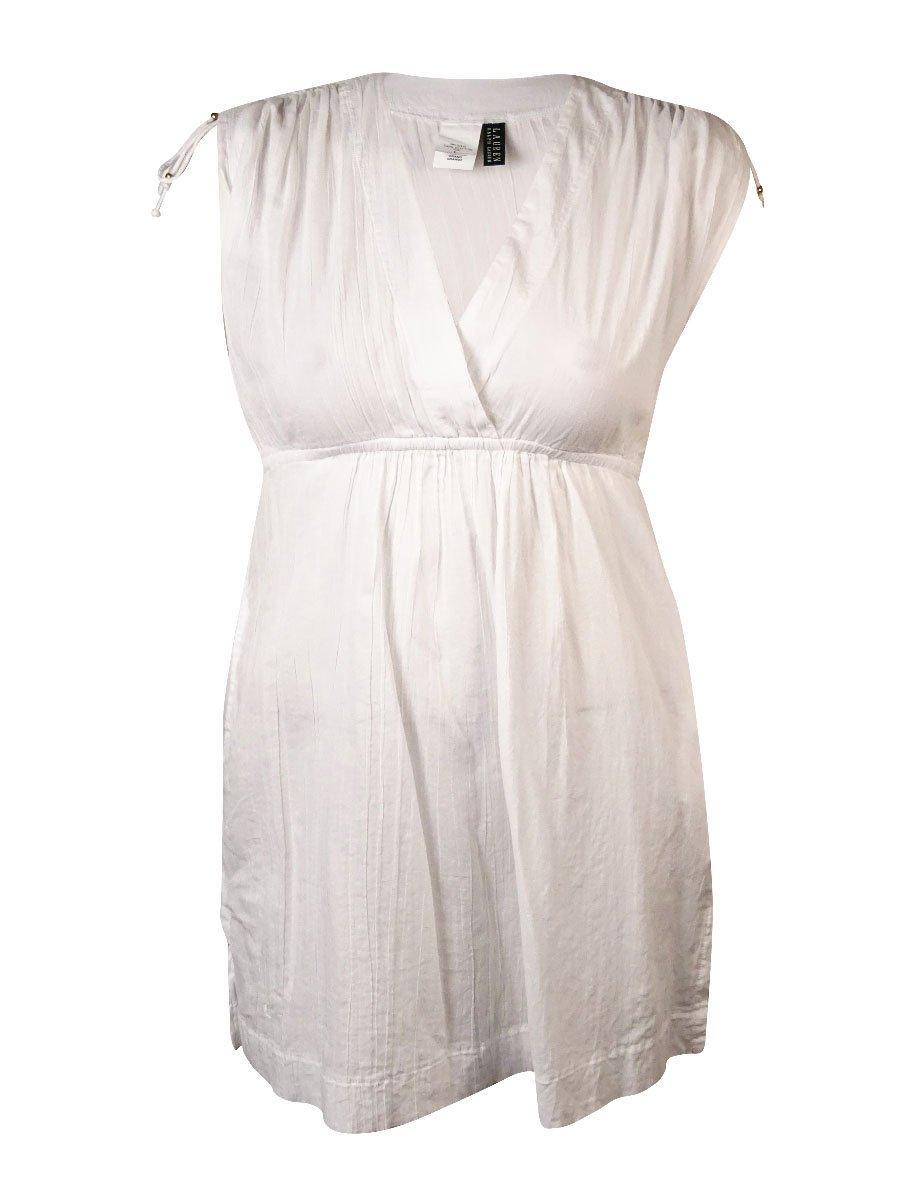 Lauren Ralph Lauren Women's Farrah Dress Cover-up White Swimsuit Top