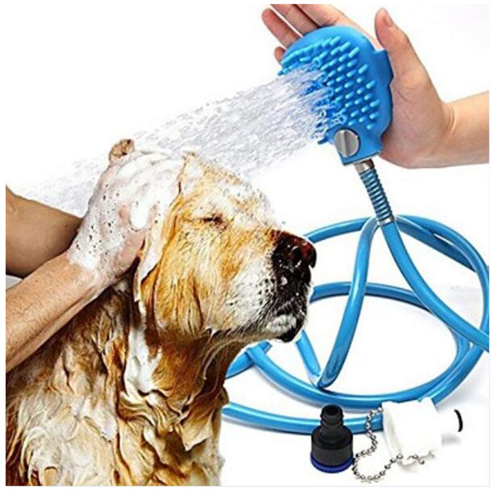 Easy to Install Adjustable Flexible Dog Clothes Cleaning Solid colord bluee Dogs Cats Small Pets