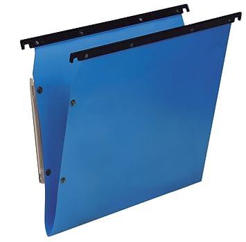 Bertesi Lote de 10 archivadores colgantes fondo V azul: Amazon.es: Oficina y papelería