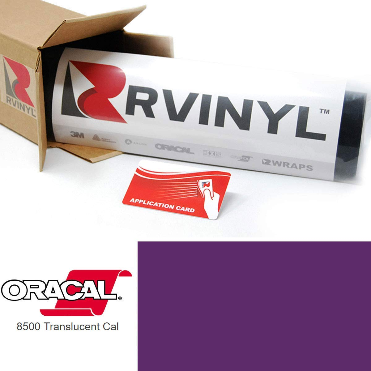 ORACAL 8500 Violet 040 Translucent Calendered Film 2ft x 10yd W/Application Card Vinyl Film Sheet Roll - for Cricut, Silhouette Cameo, Craft and Sign Cutters