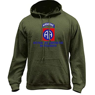 USAMM Army 82nd Airborne Veteran Full Color Pullover Hoodie (Medium ... b8dc4e75e