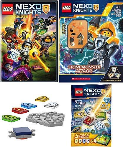(LEGO Kingdom Nexo Knights of Knighton Lance Minifigure Blind Bag Powers Bundled with + Monstrox! Season 1 Animated Pack Set Comic Adventure Story Stone Monster)