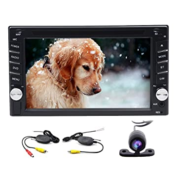 6.2-inch Double DIN GPS Navigation for Universal Car Free Wireless Backup Camera In Dash