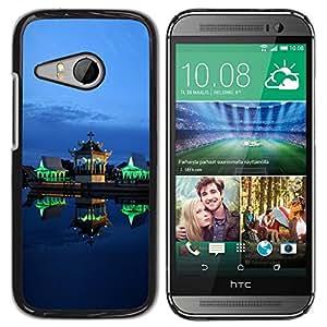 TopCaseStore / la caja del caucho duro de la cubierta de protección de la piel - Green Lights Architecture Night - HTC ONE MINI 2 / M8 MINI