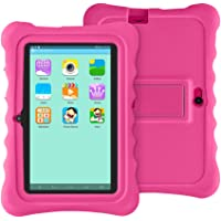 YUNTAB Q88H Kids Tablet, 7 inch Display, 8 GB ROM, Quad Core CPU, Supports WiFi, Bluetooth, Dual Camera, Kids Software Pre-Installed, Premium Parent Control, Educational Game Apps, Protecting Silicone Case