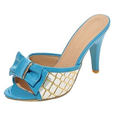 JOJONUNU Damen Stiletto  Pantoletten Sandalen  Amazon   Stiletto Schuhe ... a73302