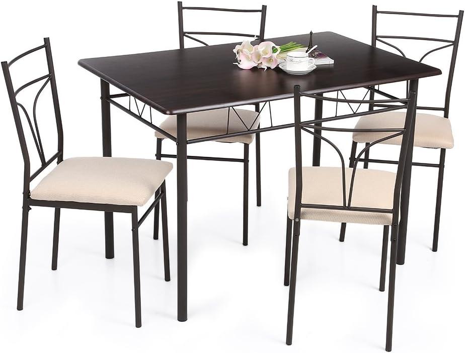 IKAYAA YS15A105 - Conjunto de Muebles de Cocina 5pcs/Set (Una Mesa ...