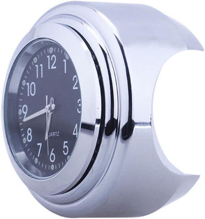 Starall Motorbike Clock Waterproof Motorcycle Handlebar Clock Dial Watch,7//8 inch To 1inch
