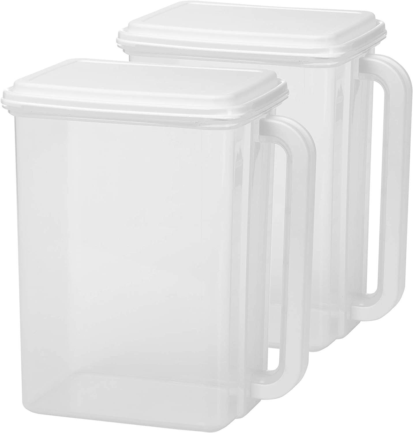 Buddeez B00253 Store 'n Pour Storage Dispenser 46 Cup-White/Clear, 2 Count