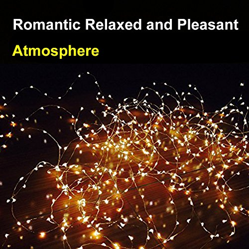 Solar Powered String Light, Amir 100 LEDs Starry String Lights, Copper Wire Lights Ambiance ...