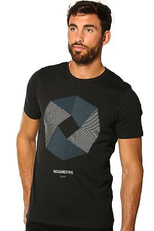 Camiseta de cuello redondo Core Booster de Jack & Jones, hombre, black -