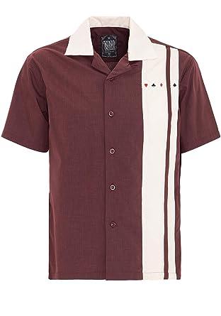 King Kerosene Men Bowling Shirt Burgundy: Amazon.es: Ropa y accesorios