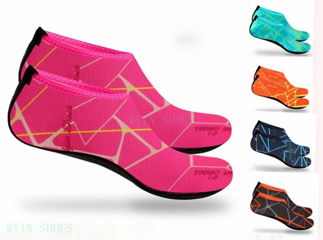 SHY Unisex Water Shoes Quick-Dry Barefoot Aqua Sport Diving Yoga Surf Beach Socks Swim Shoes B07BWD7H65 US:3.5-4.5|Hot Pink