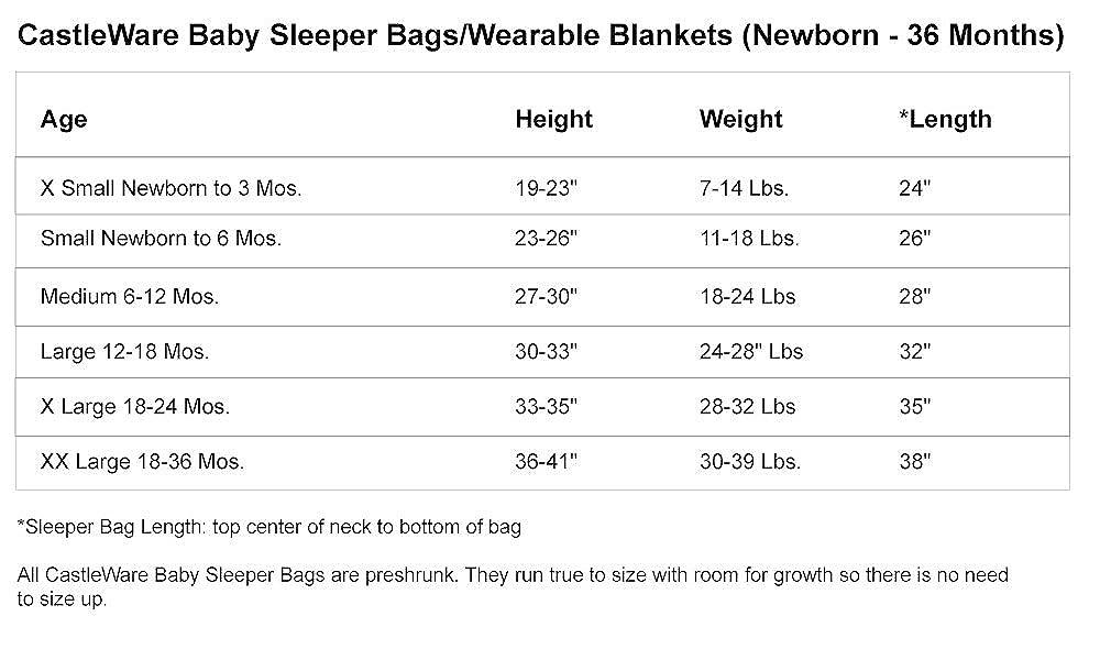 54950694d Amazon.com  CastleWare Baby- Organic Cotton Rib Knit- Sleeper Bag ...