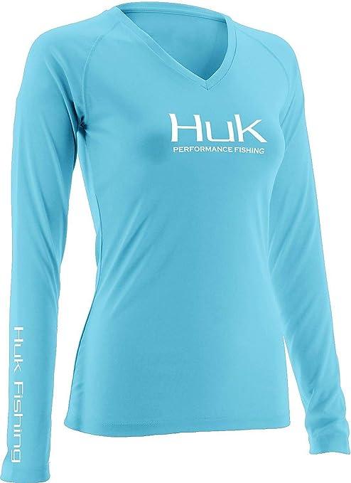 9adfa231 Amazon.com : HUK H1200060-TBL-S Huk Women's Performance Long Sleeve Jacket,  Tahiti Blue, Small : Sports & Outdoors