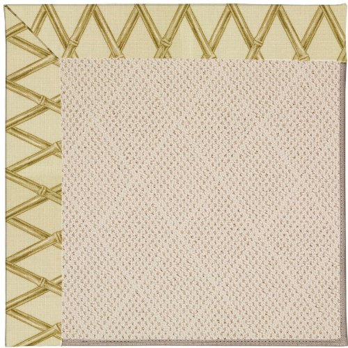 Capel Bamboo (Capel Rugs Zoe-White Wicker Rectangle Machine Tufted Area Rug, 7 9', Bamboo)