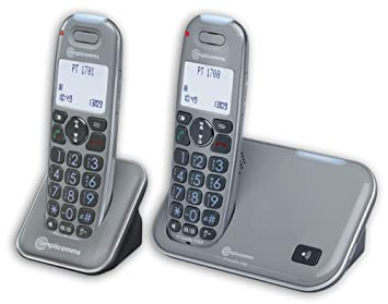 Amplicomms PowerTel 2780 Cordless Amplified Telephone With Digital Answering Machine