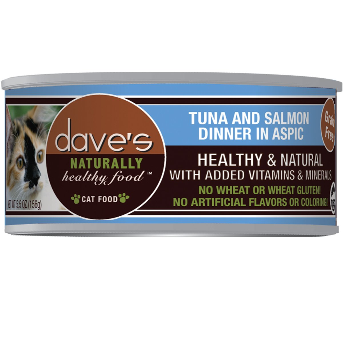 Dave's Naturally Healthy Tuna and Salmon in Aspic for Cats (Pack 24x3oz) by Dave's Pet Food