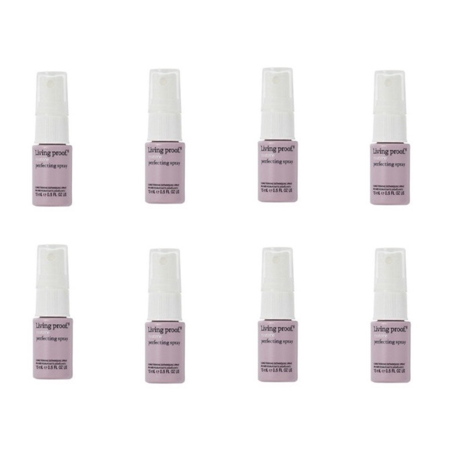 Living Proof Restore Perfecting Spray Coditioning Detangling Spray ~ Mini Set of 8 ~ 0.5 fl oz each/ total 4 fl oz