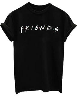 95fc02f3a FCYOSO Teen Girl Funny Friends Print Graphic T-Shirt Women Cute Cotton Tops