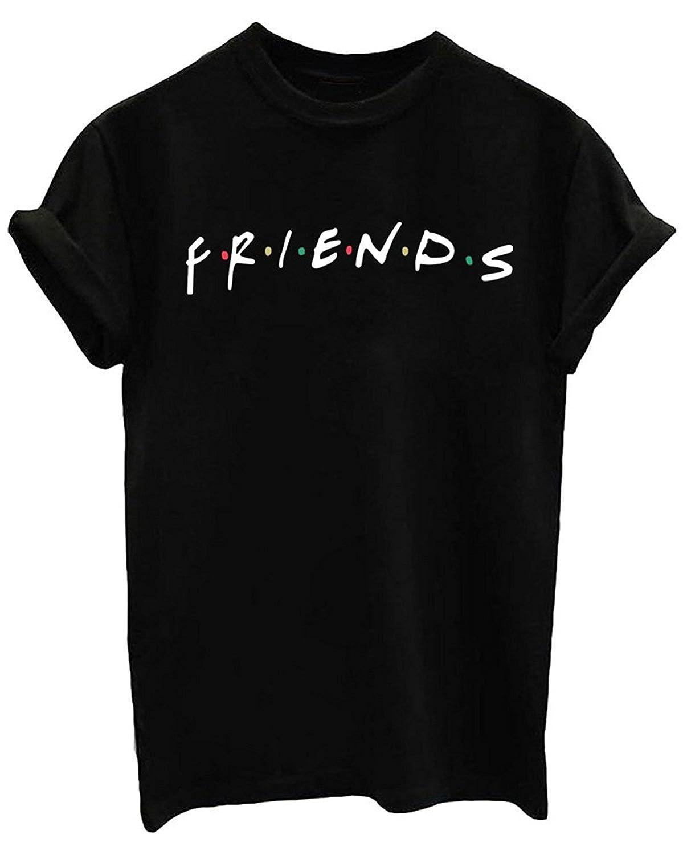 b8262dae Amazon.com: FCYOSO Teen Girl Funny Friends Print Graphic T-Shirt Women Cute  Cotton Tops: Clothing