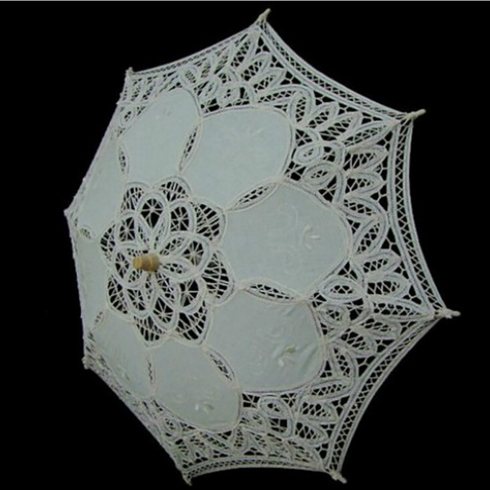 Kids Lace Sun Umbrella,Gsha Handmade Cotton Parasol Umbrella Costume Accessory 3-5Years by Gsha (Image #3)