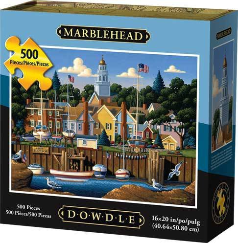 Jigsaw Puzzle - Marblehead Massachusetts 500 Pc By Dowdle Folk Art