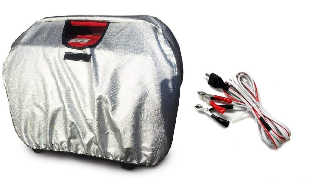 Weatherproof Generator Cover and DC Charge Cord Kit Compatible with EU2000 and EU2200i