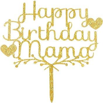 Amazon.com: Decoración para tartas de feliz cumpleaños ...