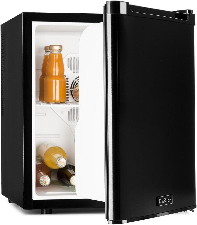 Klarstein CoolTour - Minibar, Mininevera, Nevera para bebidas, 48 litros, 43 x 50 x 48 cm, Muy silenciosa, Puerta instalable a ambos lados, 70 W, Negro