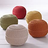 Brylanehome Hand-Knitted Ottoman Pouf (Natural,0)