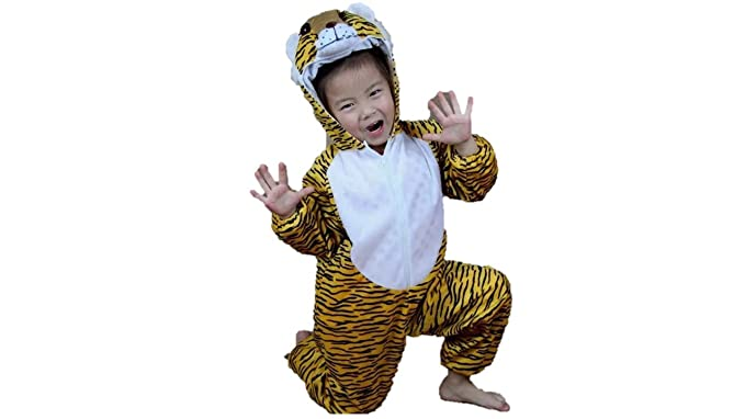 Kids Animal Costumes Boys Girls Unisex Pajamas Fancy Dress Outfit Cosplay Children Onesies (XL (
