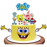 SpongeBob SquarePants Cake Topper Set for Kids Birthday Party Supplies
